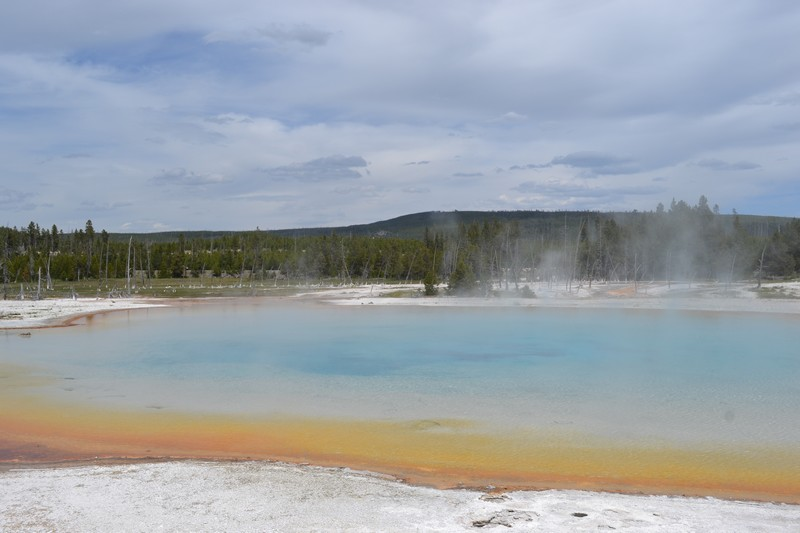 old faithful, Yellowstone, Wyoming, usa, parc, biscuit bassin