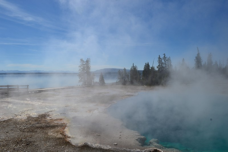 Yellowstone, Wyoming, usa, parc, west thumb
