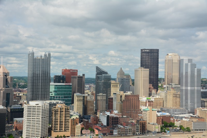 Vue sur le downtown de Pittsburgh
