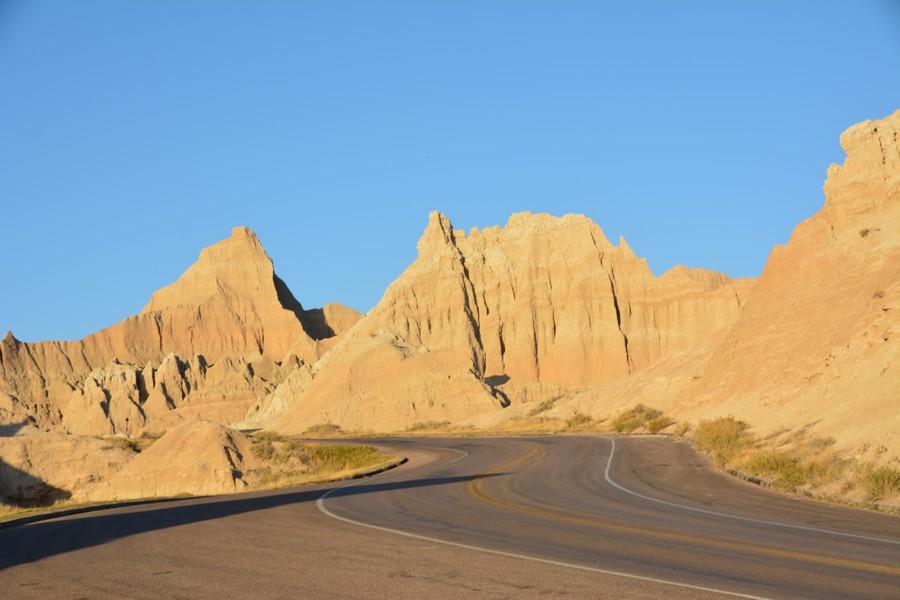 Route sinueuse à Baldlands National Park