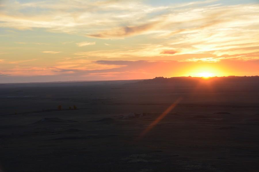 coucher de soleil unique à Baldlands National Park