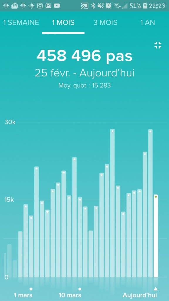 record fitbit