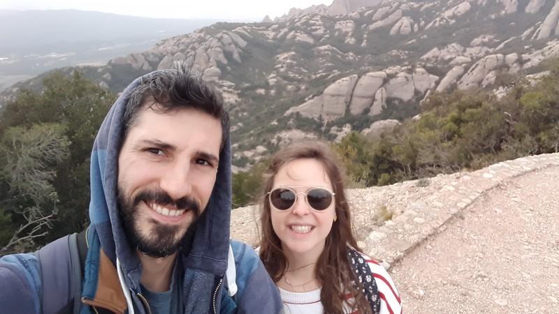 selfie monastère Montserrat