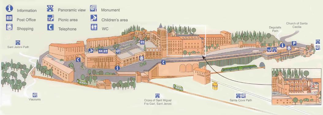 carte monastère Montserrat