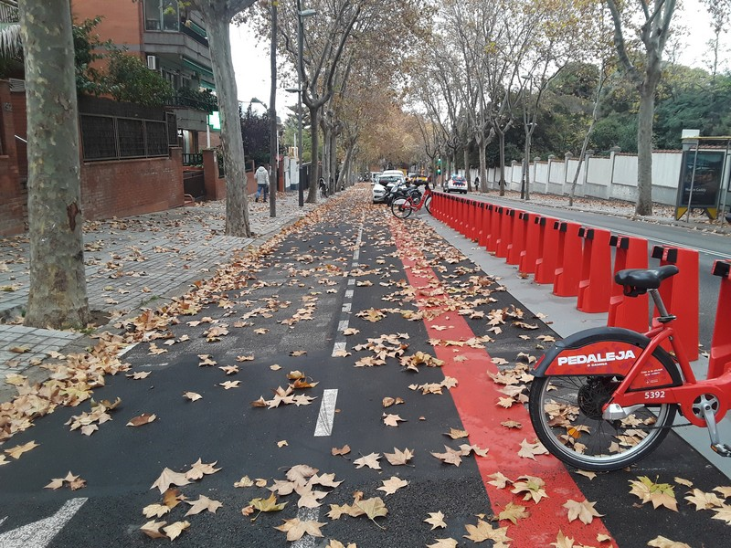 rue automne Barcelone